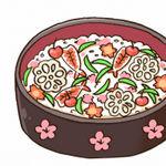 PSD形式ありちらし寿司のイラスト
