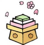 さくらと菱餅イラスト