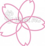 シンプル桜