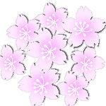 桜立体イラスト素材