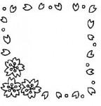 フレーム/桜(カラー・モノクロ)