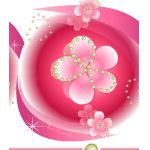 桜のキラキラ素材 背景