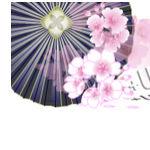 桜と傘の壁紙イラスト