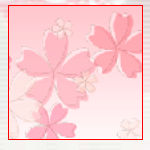 手書き風素材 桜
