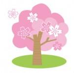 かわいい桜の木イラスト
