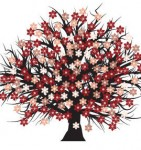 Free vector blossomed tree