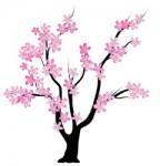 シンプル桜の木