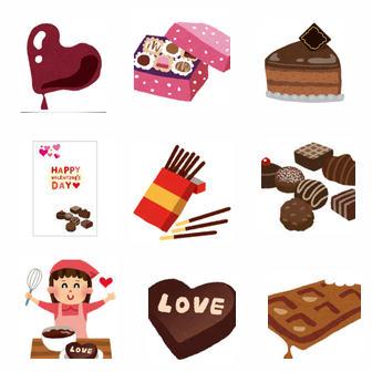 チョコレート: 無料イラスト かわいいフリー素材集