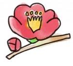 ゆるかわいい椿の花
