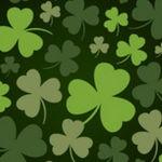 聖パトリック緑の葉の背景