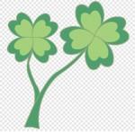 四つ葉のクローバーのイラスト フリー素材 春季節