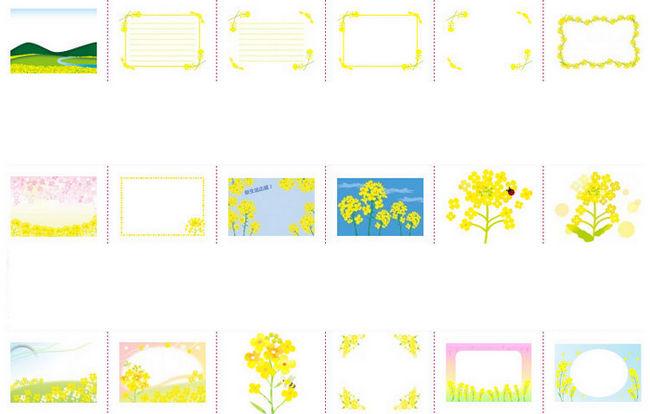 菜の花の背景やフレーム各種