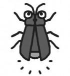 ホタル・蛍(モノクロ)
