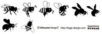 ミツバチ | 商用フリーで使える影絵素材サイト シルエットデザイン