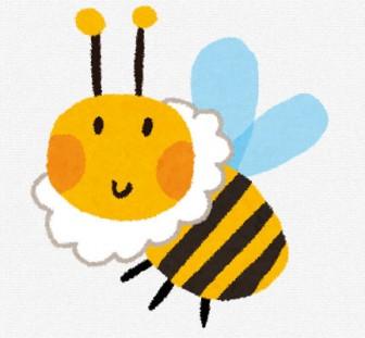 ミツバチのイラスト: 無料イラスト かわいいフリー素材集