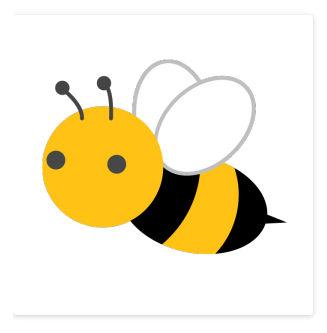 ミツバチのシンプルイラスト | イラストK <無料> [昆虫]