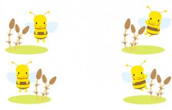 春のイラスト素材 ミツバチ|無料素材ペペロ|