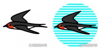 素材屋小秋: ツバメ(つばめ)の無料イラスト・フリー素材