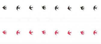 ツバメのイラストライン | 罫線・飾り罫ライン素材 FREE LINE DESIGN