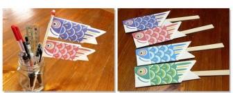 こいのぼりの折り紙(折り方)と箸袋 無料ダウンロード・印刷