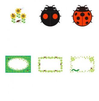 イラスト無料 「てんとう虫」のイラスト素材