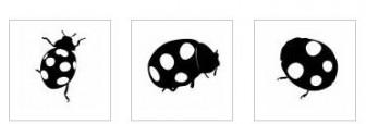 てんとう虫|無料イラスト ・イラスト素材「シルエットAC」