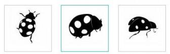 テントウムシ|無料イラスト ・イラスト素材「シルエットAC」