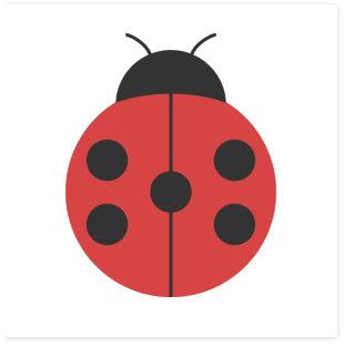 てんとう虫のシンプルイラスト <無料> | イラストK