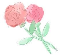 母の日向け、カーネーションの花のフリーイラスト素材 - HP素材のおすそわけ。blog