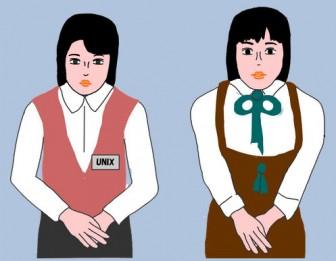 女性 働く女性  OL イラスト   無料