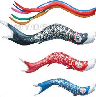 (鯉幟)鯉のぼりのイラスト・条件付フリー素材集