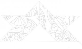 折り紙兜(かぶと)の塗り絵