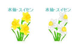 春の花素材(スミレ・すみれ、パンジー、水仙、スイセン、フリージア)イラスト フリー素材