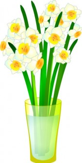 無料イラスト素材屋 「SATUKI晴れ」 Free materials and illustrations: 水仙・水仙の花が咲いて暖かくなりました