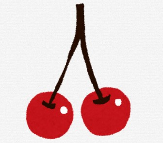 さくらんぼ・チェリーのイラスト(フルーツ): 無料イラスト かわいいフリー素材集
