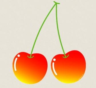 さくらんぼのイラスト : ぱちくり屋のPOP-BLOG