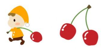 さくらんぼのイラスト(1) - フリーイラスト・無料素材のイラスター