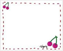 フリー素材:フレーム素材。 ガーリーなピンクのさくらんぼのイラスト。 | 大人可愛いイラスト制作 tigpig