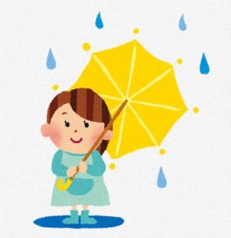 梅雨のイラスト「傘と女の子」: 無料イラスト かわいいフリー素材集