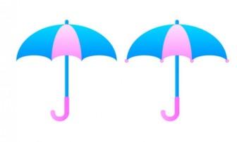 傘・梅雨イラスト素材01 | イラスト無料・かわいいテンプレート