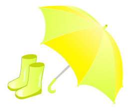 梅雨 イラスト 傘と長靴