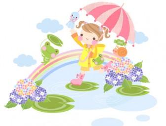 梅雨素材 : ブログ素材/イラスト/桜屋