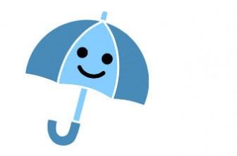 » 傘のイラスト(雨降り天気マーク)/梅雨のイメージイラストにも | 可愛い無料イラストのフリー素材集