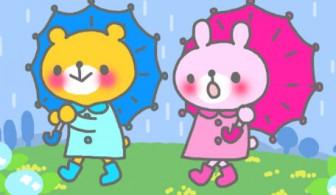 梅雨 雨 うさぎ&くま イラスト素材【アニメーション】 | 素材Good(グッド) 無料・フリー