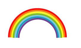 梅雨のイラスト「虹」