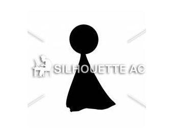 てるてる坊主 無料イラスト ・イラスト素材「シルエットAC」