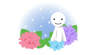 紫陽花 と てるてる坊主 - 素材【クリップアート】 - 彩クリWEB