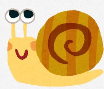 カタツムリのイラスト: 無料イラスト かわいいフリー素材集