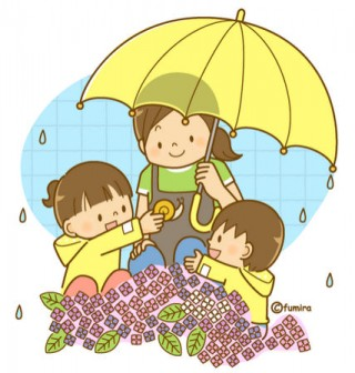 梅雨・かたつむりとこどもたち(ソフト)