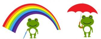 蛙(かえる)の無料イラスト